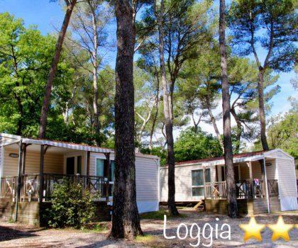 Mobilhome de camping en Provence