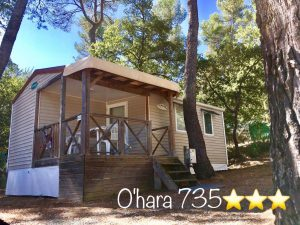 Mobil-home camping nature en provence